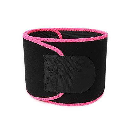 Fitnessgürtel Halten Warm Yoga-gürtel Sportgürtel Schweißgürtel Gürtel Trimmergürtel Body Shaper Abnehmen,Pink,M