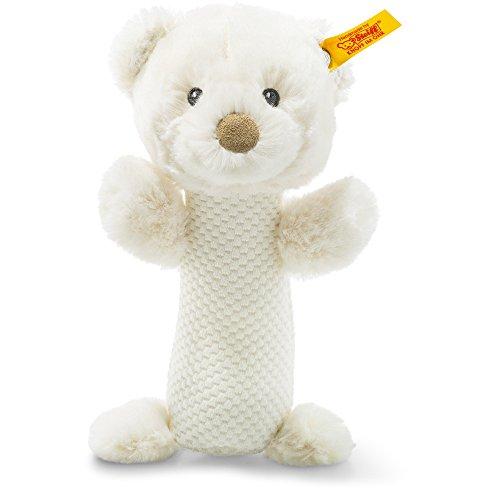 Steiff 240782 Soft Cuddly Friends Giggles Teddybär Rassel Plüsch creme 15 CM