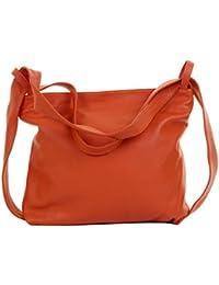d5eb67d81b Primo Sacchi® Ladies Italian Textured Leather Grab Shoulder Bag Handbag  Back Pack Rucksac. Incudes
