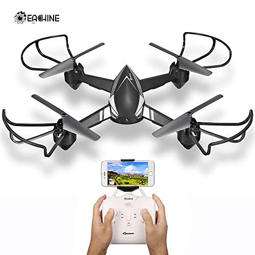 EACHINE E32HW FPV Drone with 720P HD Live Video Wifi Camera, RC Quadcopter with Auto Hovering,Altitude Hold, 3D Flip, Headless Mode and Low Voltage Alarm, Black