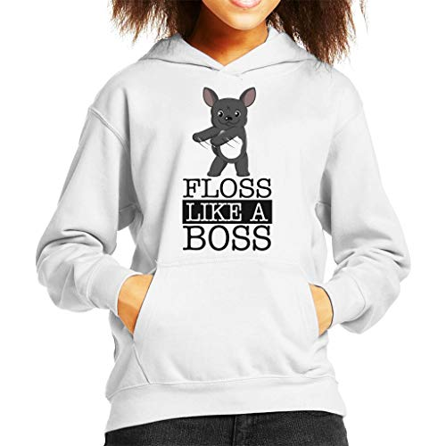 Coto7 French Bulldog Floss Like A Boss Kid's Hooded Sweatshirt