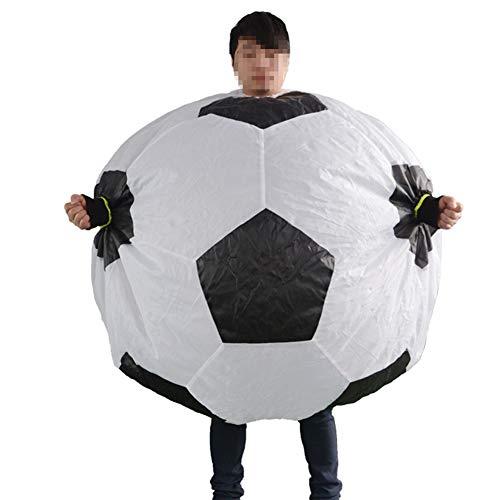 LTSWEET Aufblasbares Fußball Kostüme Erwachsene Fancy Dress Blow Up Party Cosplay Outfit Fasching Karneval Weihnachten Fußballfan Inflatable (Fußball Fancy Dress Kostüm)