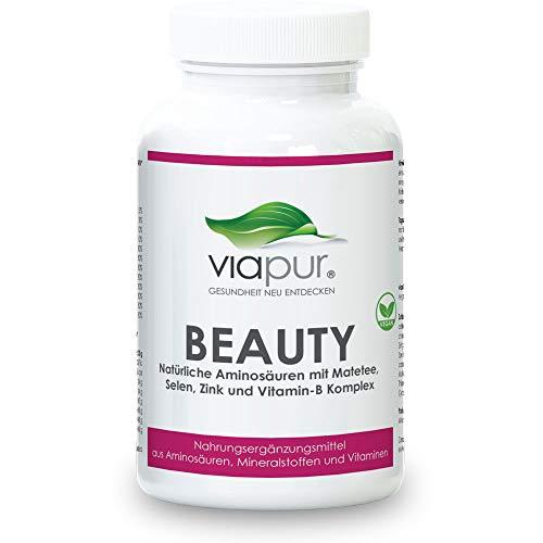 viapur® BEAUTY - Schönheit von innen - AKTIONSPREIS! - Natürliche Nährstoffe zur Unterstützung der Attraktivität mit 120 Kapseln für 1 Monat. 100% pure Aminosäuren, Mineralstoffe und Vitamine (Schönheits-kapseln)