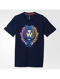 Adidas John Wall CNY tee - Camiseta para Hombre, Color marrón (Maruni)