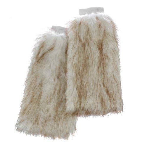 Irregular Choice Stiefelstulpen Beinstulpen aus Pelzimitat LONG FUR WARMER off white (Super Diva Kostüm)
