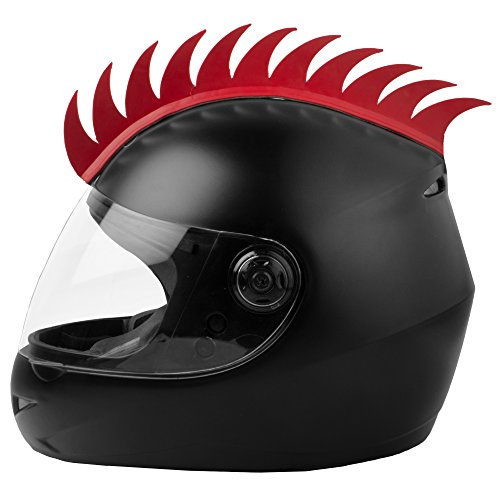 Autofy VKAMSTICKER0012 Helmet Accessory Cuttable Mohawk Sticker (Red)