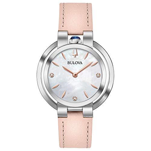 Bulova 96P197Rubaiyat orologio da donna rosa 35mm in acciaio INOX
