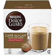 NESCAFÉ Dolce Gusto Café au Lait Decaffeinated, 16 Capsules (16 Servings)