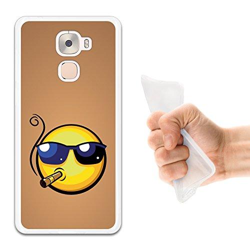 WoowCase LeTV LeEco Le Pro 3 Hülle, Handyhülle Silikon für [ LeTV LeEco Le Pro 3 ] Emoji Emoticon Boss Handytasche Handy Cover Case Schutzhülle Flexible TPU - Transparent
