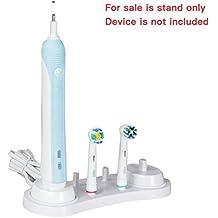 progoco soporte de cabezal de cepillo eléctrico para dientes de 4piezas oran-b cabezales de cepillo, 1cepillo de dientes soporte cargador y 1cepillo de dientes titulares