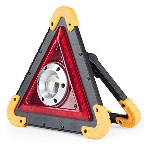 HOMZYY Luz de Trabajo LED de triángulo con 1 Chip de COB Advertencia de Emergencia 4 Modo de iluminación Puerto de Carga USB Recargable Reflector portátil Reflector de Seguridad para Camping