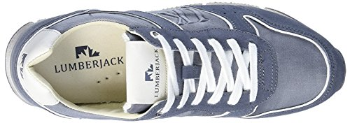Lumberjack White Low Cut, Baskets Basses Homme Gris Oscuro / Blanco