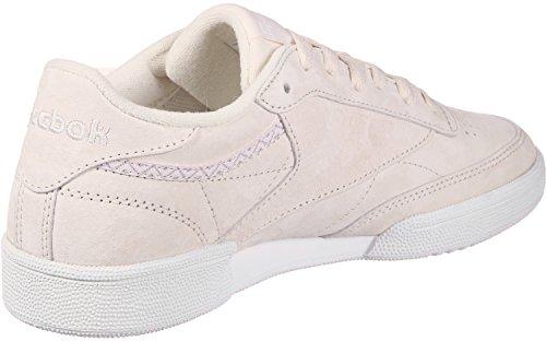 Reebok Damen Club C 85 Trim NBK Tennisschuhe, Rosa (Pale Pink/White/Powder Grey 000), 38,5 EU - Reebok Classic Club