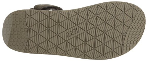 Teva Men's M Original Universal Premier-Leather Sandal Chocolate Brown