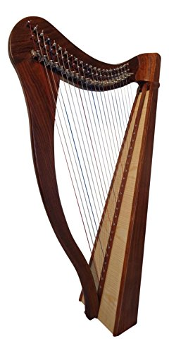 Irisch keltische Harfe mit 22 Saiten incl Tasche NEU