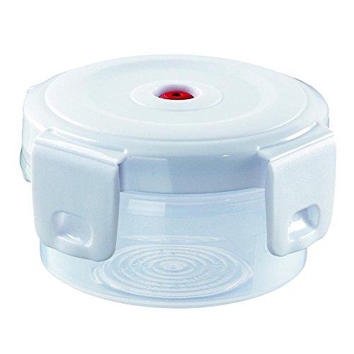 Curver contenitore di sicurezza per microonde / contenitori per alimenti in plastica Aroma Fresco Premium Alimenti 0,25 L con coperchio e chiusure bianco, EF505504