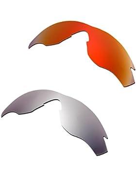 Hkuco Mens Replacement Lenses For Oakley M2 Red/Titanium Sunglasses