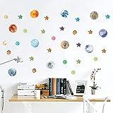Sunsbell Wandaufkleber Sterne Planets System, wanddekoration deckenabziehbilder für Kinder Schlafzimmer Wohnzimmer Kindergarten Baby Zimmer