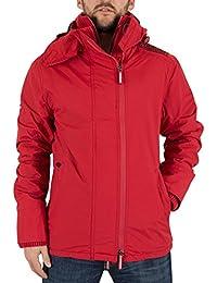 Superdry Herren Artic Pop Zip Logo Windjacke Jacke, Rot