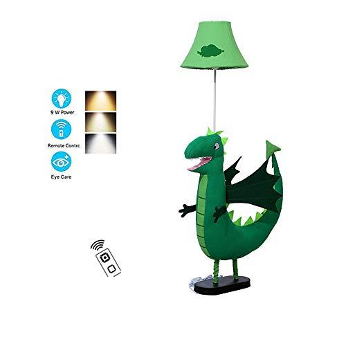 QHENS LED Lampara Pie Salon, Lampara Pie Dormitorio 3 Temperaturas de Color con Control Remoto, Lampara Pie Habitacion Niña, Diseño de Dibujos Animados
