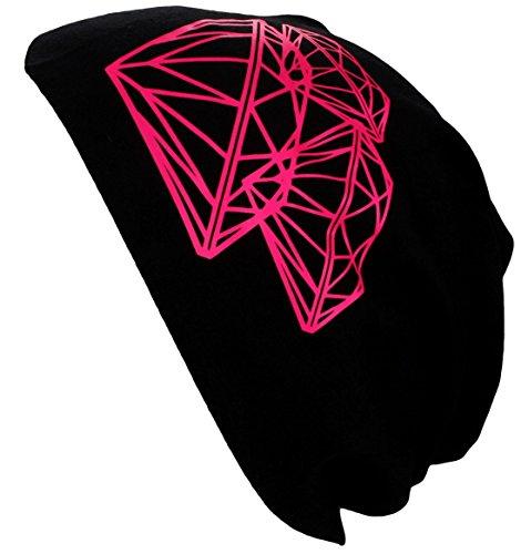 Alex Flittner Designs Bonnet Jersey Beanie printemps/été avec Motifs Splash, Tête de mort, Dés, Peace