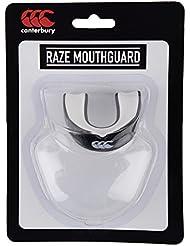 Canterbury flujo de aire casco protector bucal protector bucal, Unisex, color negro, tamaño talla única