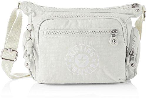 Kipling Damen Gabbie S Umhängetasche, Weiß (Lively White), 29x22x16.5 cm