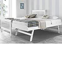 Happy Beds Toronto Renowned Rubber Wooden Guest Bed Single Furniture 2x Mattress