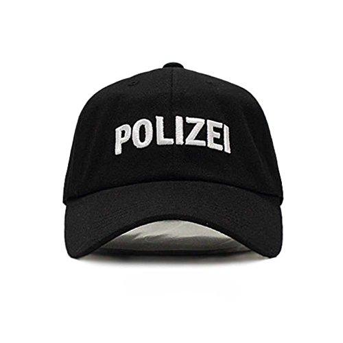Fünfte Straße Unisex Baseballcap Kappe, Lettering (POLIZEI A -Schwarz)