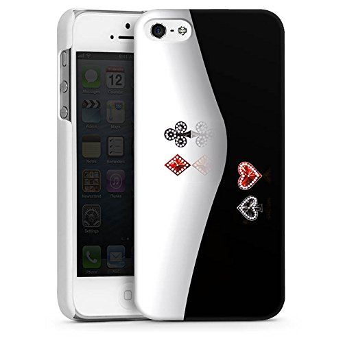 Apple iPhone 5 Housse Étui Silicone Coque Protection Croix Carreau C½ur CasDur blanc