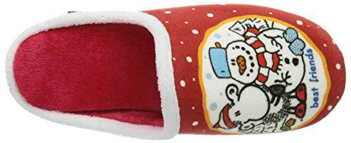 Sheepworld 320396, Chaussons mixte adulte Rouge (Ot)