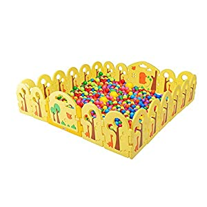 DS- Baby fence Safety Fence,Children's Fence Play Fence Family Playground Children's Activity Center Indoor Separation && (Size : 240 * 240cm)   5