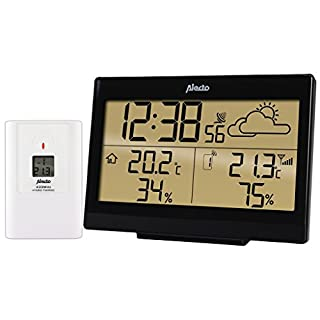Alecto WS-2300Digital Battery/Black Digital Weather Station-Weather Station, White (battery/battery, AA, Black, White)