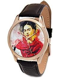 HMP - Reloj de pulsera analógico unisex de cuarzo con correa de piel y correa de