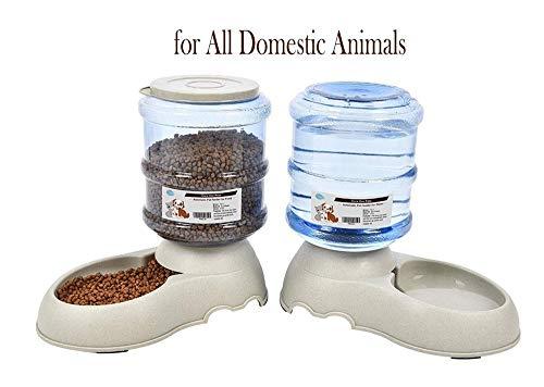 LLZYL Futterspender/Wasserautomatischer Springbrunnen-3.75Lx 2 Stück- Futter für Hunde/Katzen/Kroketten Zubehörfutterautomat Haustiere (Keine Batterie erforderlich)