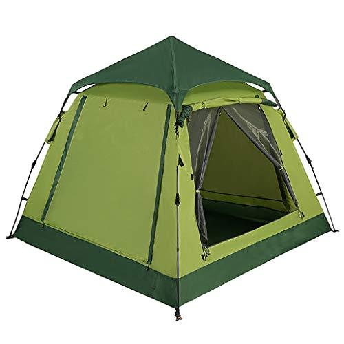 CATRP Zelt Camping Automatische Presse Pop Up Leichtes Kuppelzelt Verdicken Regendicht 2 Personen Familienzelt, 2 Farben (Farbe : Green)