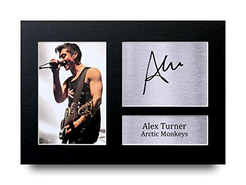 Alex Turner Los Regalos Firmaron A4 la Dedicatoria Impresa Arctic Monkeys Música La Foto de Impresión Imagina la Demostración