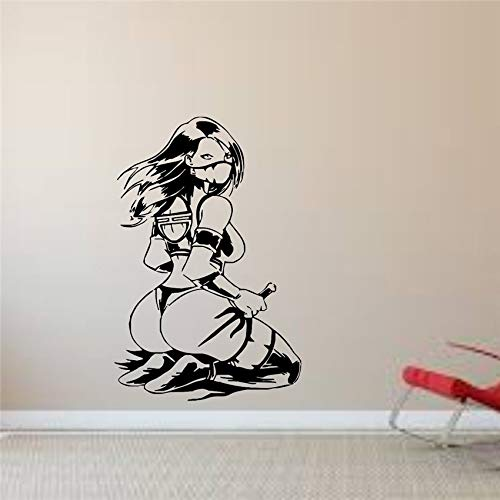 ttoo Vinyl-Dekor Mortal Kombat Spielen wir das Spiel Art Decor Home Decor Wandtattoos Wohnzimmer Wandaufkleber58 x 88 cm ()