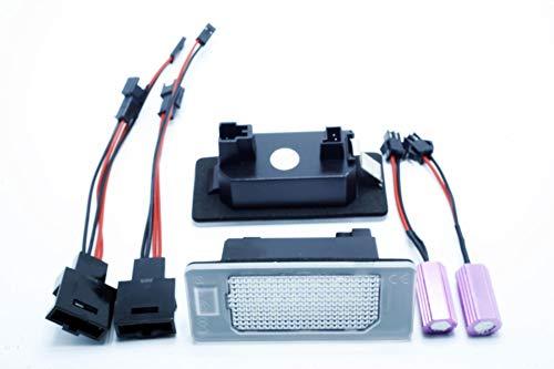 LEDPremium - 2 luci per targa a LED di ricambio A1 A4 Allroad [B8] A5 S5 A6 C7 A7Q5 TT TTS TTRS Canbus