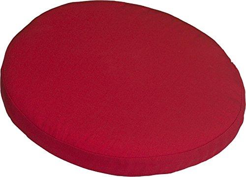 Polster Stuhlkissen Balkonkissen Rot Dralon Bezug 40 cm Rund mit Reissverschluss
