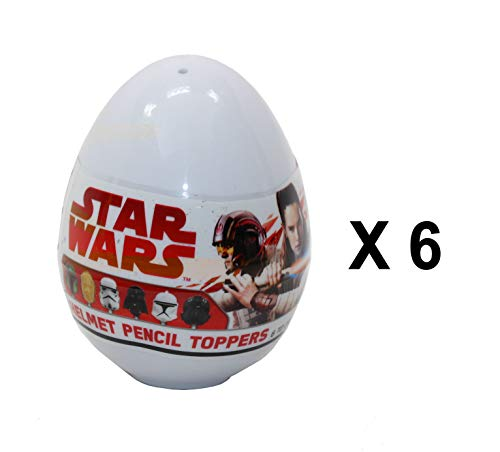 Star Wars 6 x Disney Helm-Stiftaufsatz Mystery Eggs - Party Favour Bag - Helm Disney