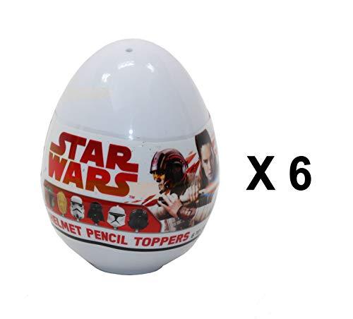 Star Wars 6 x Disney Helm-Stiftaufsatz Mystery Eggs - Party Favour Bag - Disney Helm