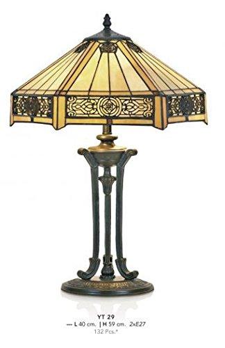 Casa Padrino Tiffany Tischleuchte Durchmesser 40cm, Höhe 59cm Mod11 Mosaik Leuchte Lampe...