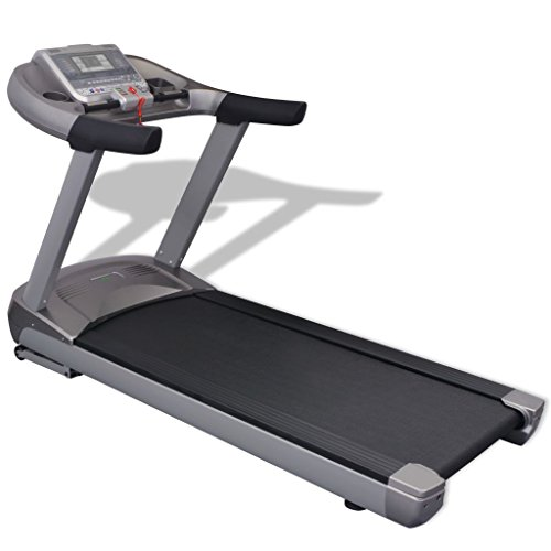vidaXL Laufband Fitnessgerät Heimtrainer Lauftraining LCD-Display 1-22 km/h 5 PS