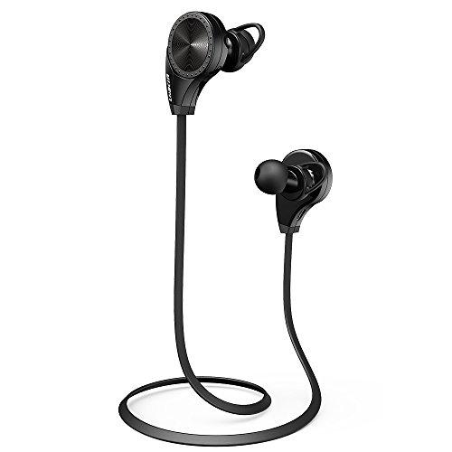 LOBKIN Auriculares Bluetooth 4.0 para deporte, running, gimnasio y ejercicio Auriculares inalámbricos con micrófono y manos libres para iPhone, iPad, iPod, Android, Samsung Galaxy y otros dispositivos compatibles(negro)