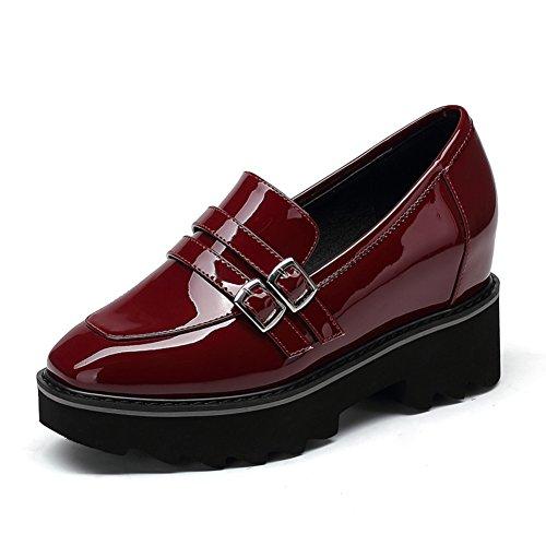 caduta di scarpe con la suola spessa piattaforma/Nella versione coreana del profondo alta platform high heel shoes-B Lunghezza piede=23.3CM(9.2Inch)