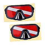B Baosity 2 Pz Decalcomania Adesivi di Kayak Canoa Pesca Grafica di Auto - Occhiali da Sub