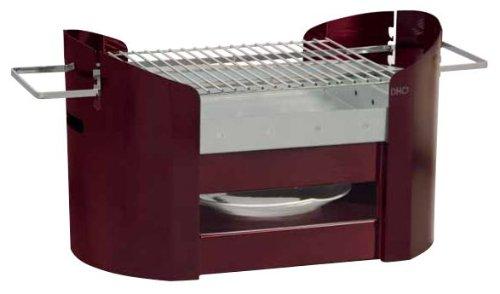 Barbecue portatif en Acier galvanisé Rouge Foxy 70x36x33,5cm