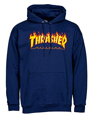 THRASHER Hombre Sudadera Capucha BLU Navy/BLU S
