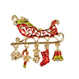 Outflower. 1pcs Spilla di Natale Creativo Spilla da Slitta Spilla Moda Donna spumanti Accessori per Abiti Ideali per Feste Natalizie